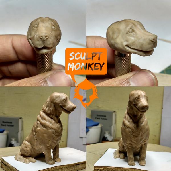 Dog Memorial Figurine - Face Sculpt