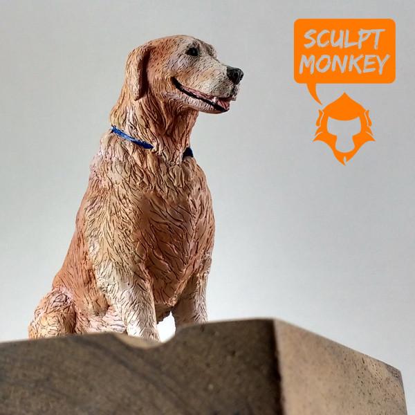 Dog Memorial Figurine - Angled Side View
