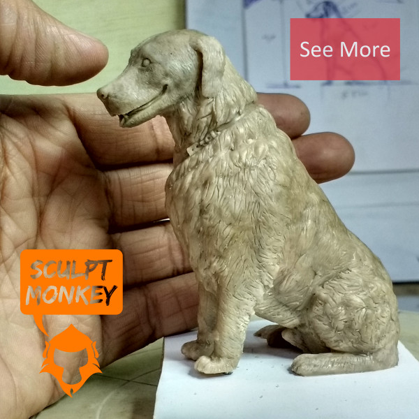 Dog Memorial Figurine - Preview