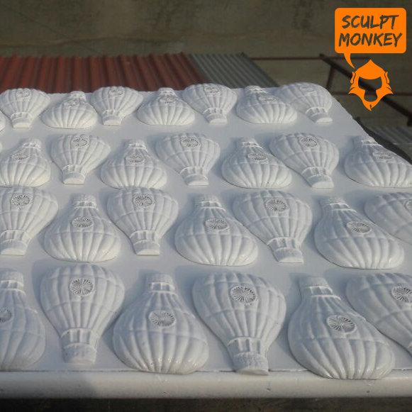 Indian Flag Hot Air Balloon Fridge Magnet - Primer