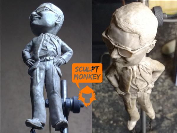 Custom 4 inch figurine - Angled Views