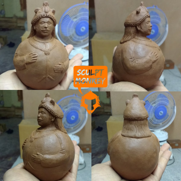 Swaying Tanjore doll - Attempt1 sculpt