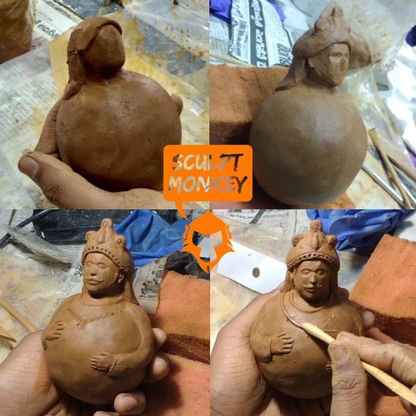 Swaying Tanjore doll - Attempt1 clay