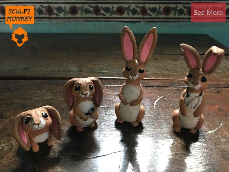 Custom Bunny Figurines - Preview