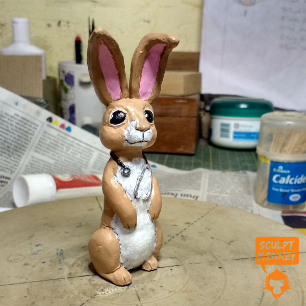 Custom Bunny Figurines - Brother Doctor