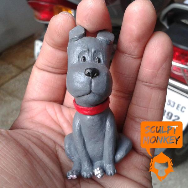 Curious Puppy Figurine - Paint Test