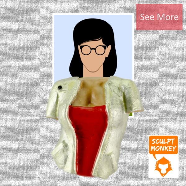 Body Swapper Fridge Magnet - Women Jacket Fridge Magnet Preview
