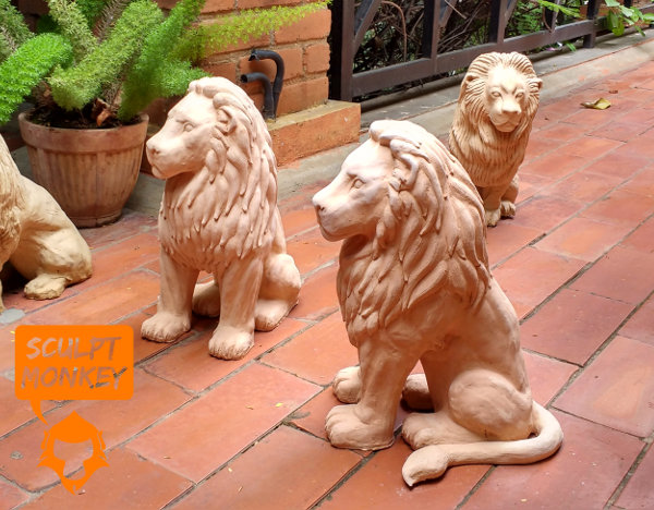 Stoneware Lions - All
