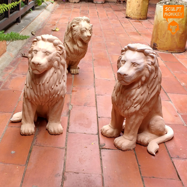 Stoneware Lions - All 2