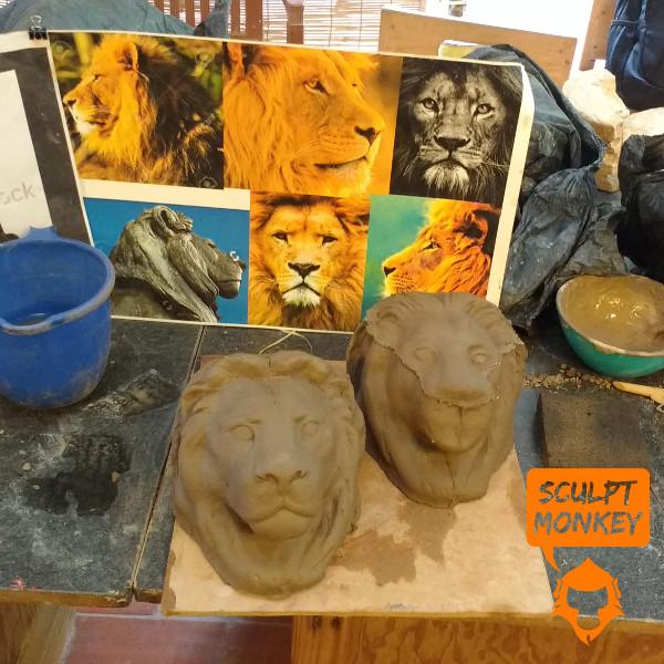 Stoneware Lions - Head Sculpt