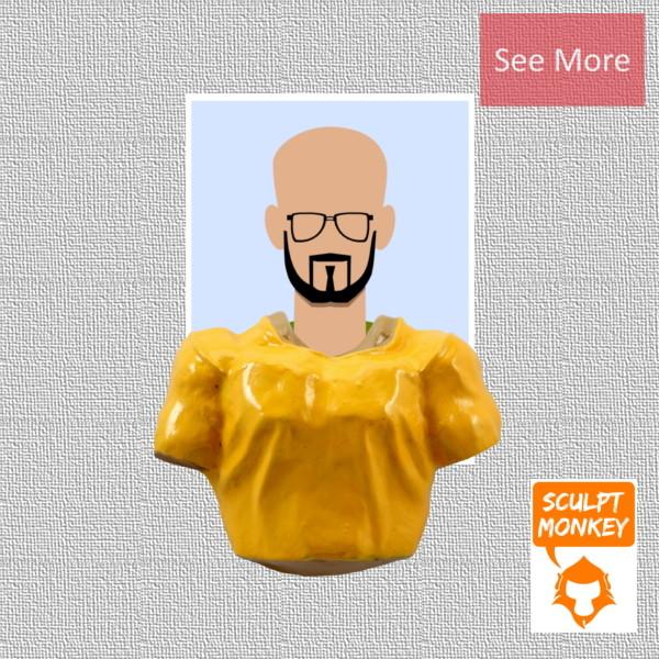 Body Swapper Fridge Magnet - Men T-Shirt Fridge Magnet Preview