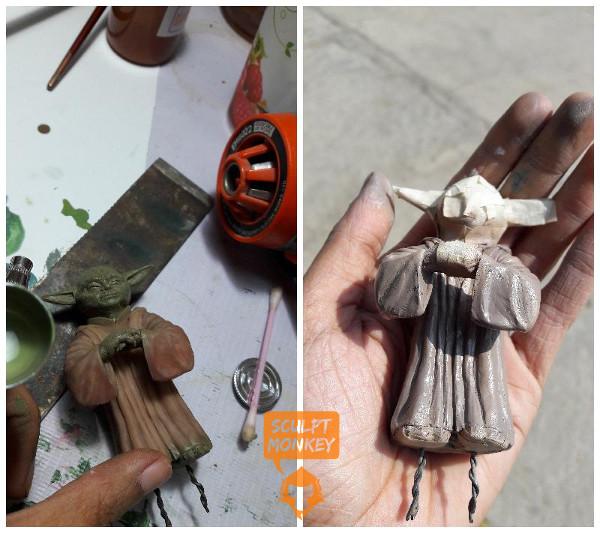 Custom Yoda Figurine - Paint WIP