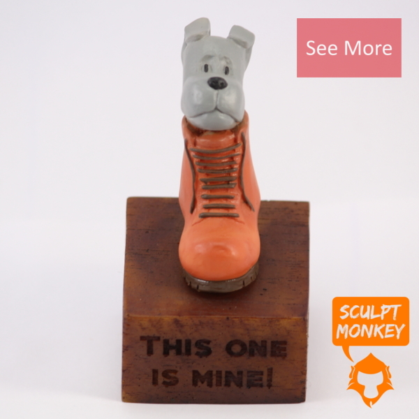 Comfortable Puppy Figurine - See More