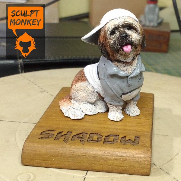 Shadow Shih tzu dog figurine - beauty shot full