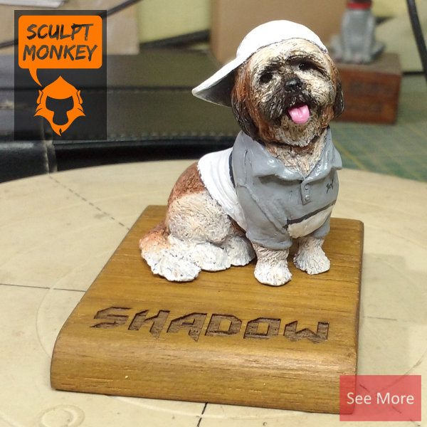 Shadow Shih tzu do figurine - Preview