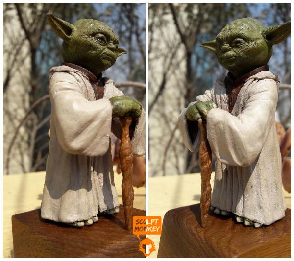 Custom Yoda Figurine - Side split