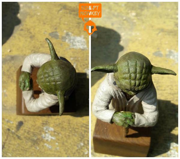 Custom Yoda Figurine - Top Views