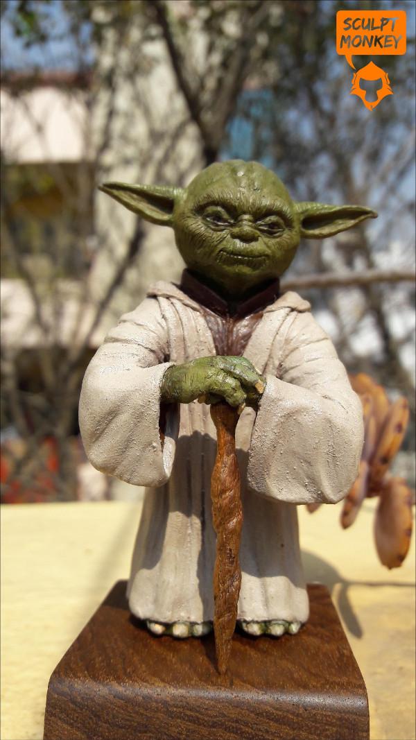 Custom Yoda Figurine - Front