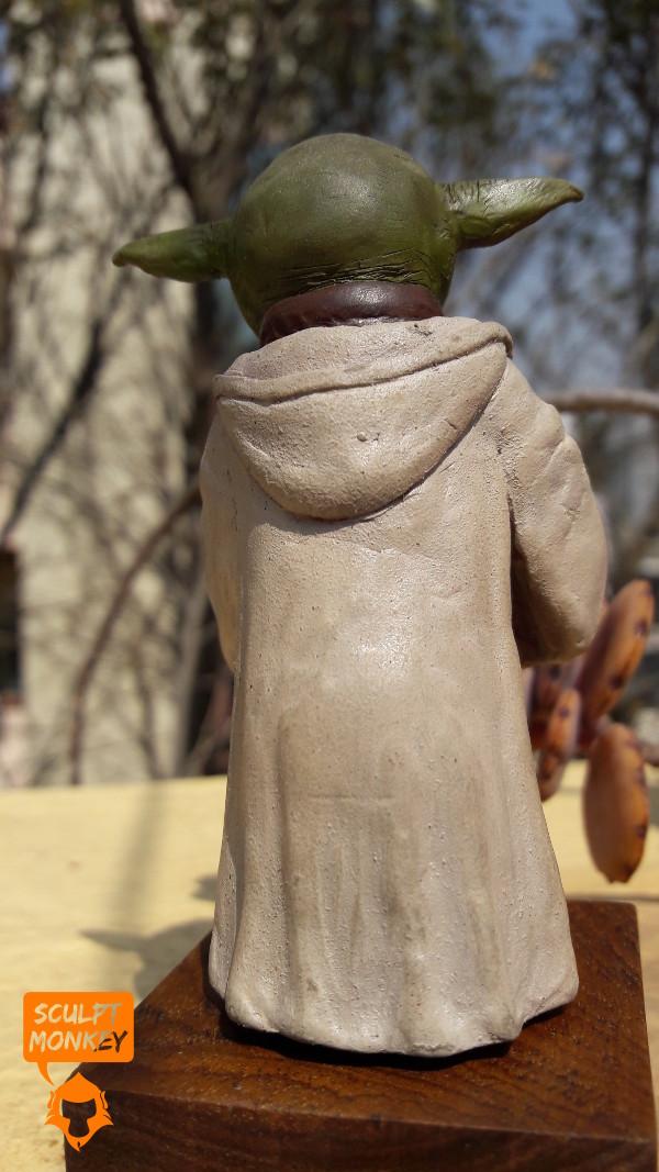 Custom Yoda Figurine - Rear View